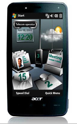 Acer F900 Price in India   Touchscreen mobile