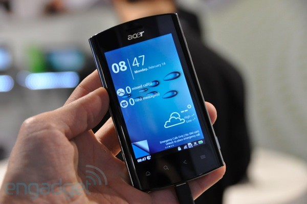 Acer Liquid mt hands