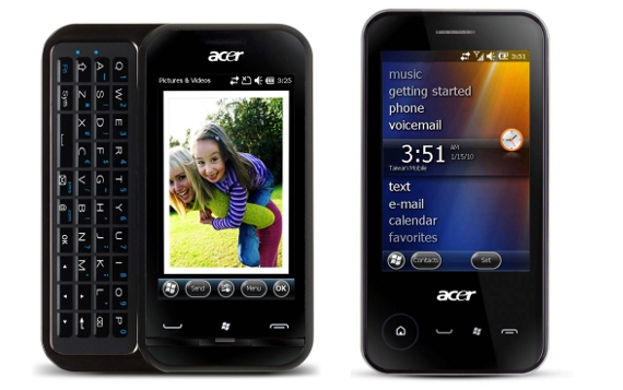 Acer neoTouch P400 and P300 Windows Mobile smart phones  Do the