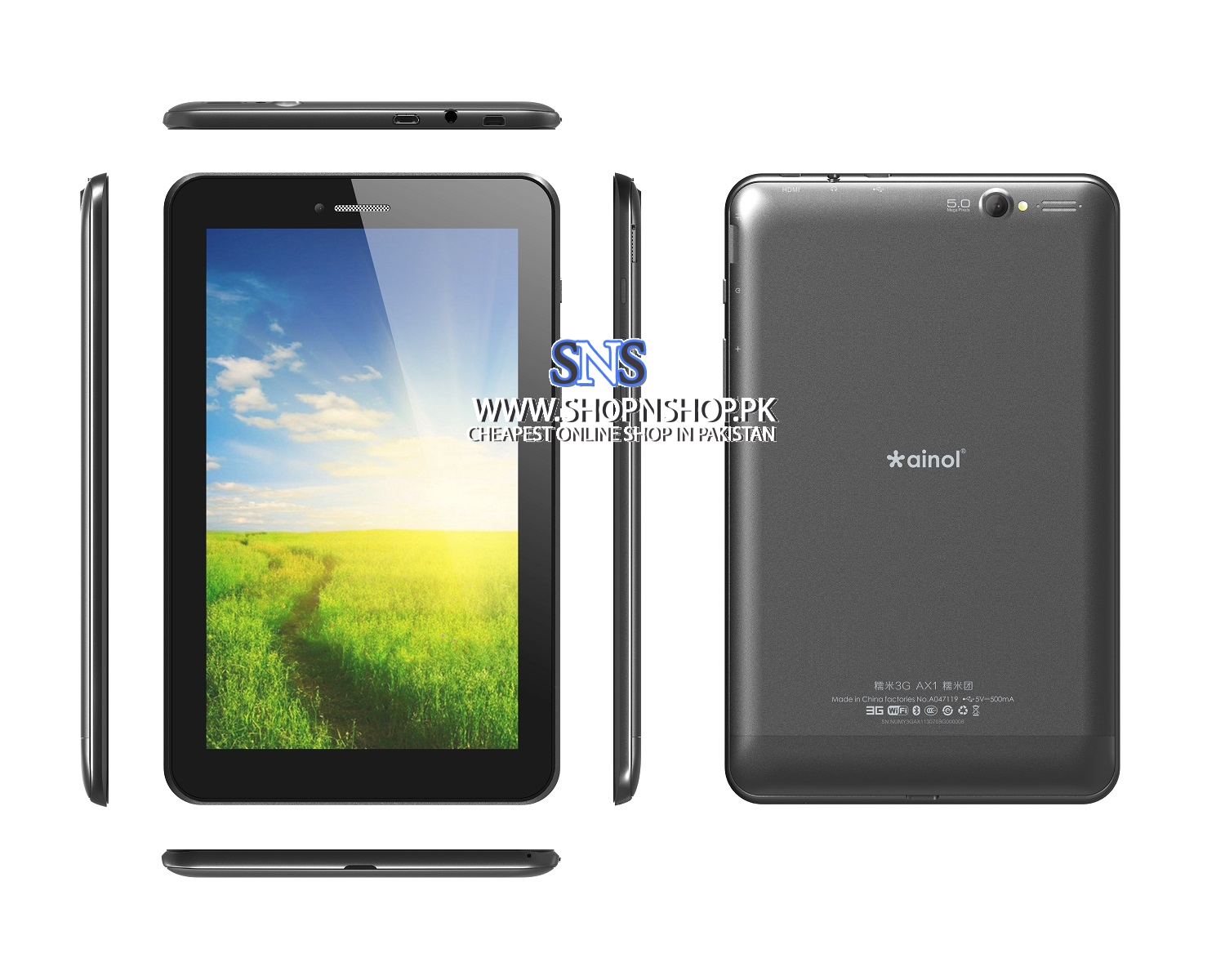 Ainol Novo 7 Numy AX1 GSM Quad Core 1GB DDR3 3G Bluetooth GPS