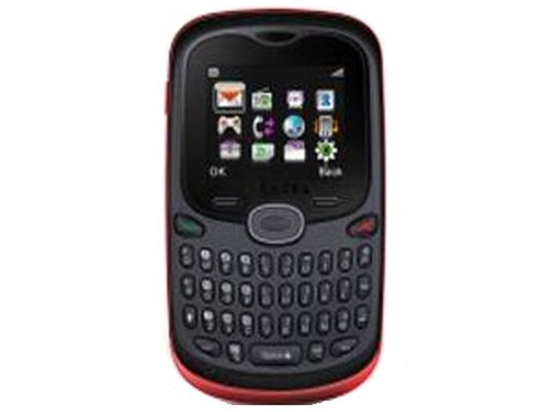 Mobile Pictures Alcatel Mobile OT 252 Black And Red Front View 3431