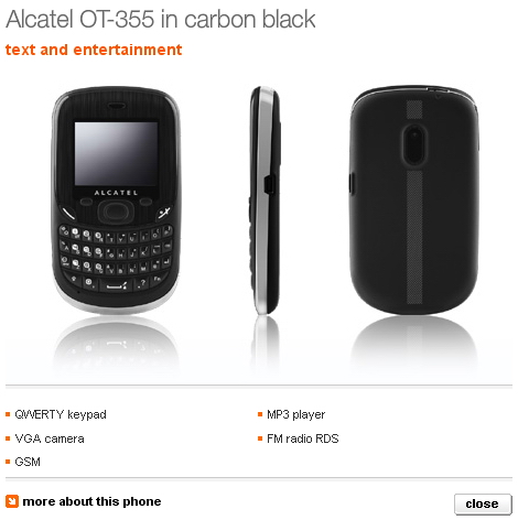 Cheap Alcatel OT 355 QWERTY phone coming to Orange UK   Unwired View