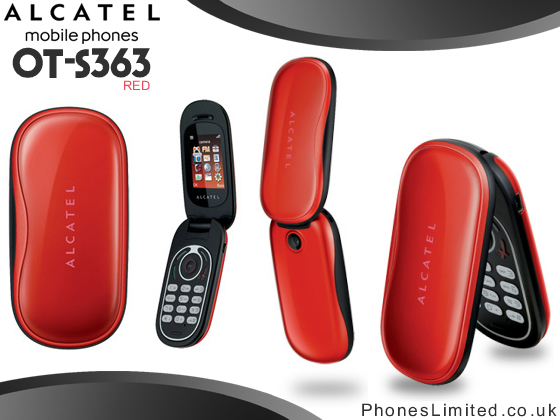Alcatel S363 Red on Pay As You Go Deals UK  OT S363    Phones Limited