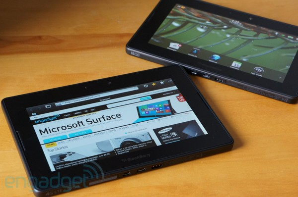 BlackBerry PlayBook 4G LTE hands