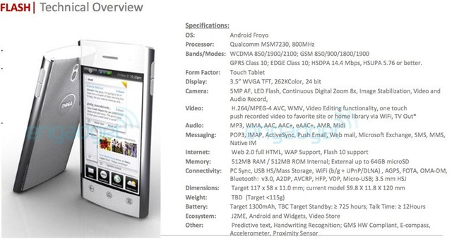 Dell Flash  first Android 2 2        Froyo         phone   Neowin
