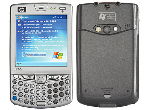HP iPAQ hw6515 phone photo gallery  official photos