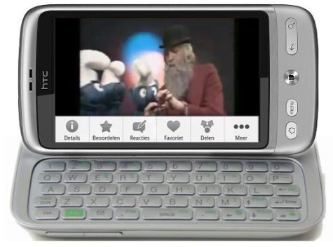 HTC Vision Android QWERTY phone tipped  plus HTC LED and Glacier