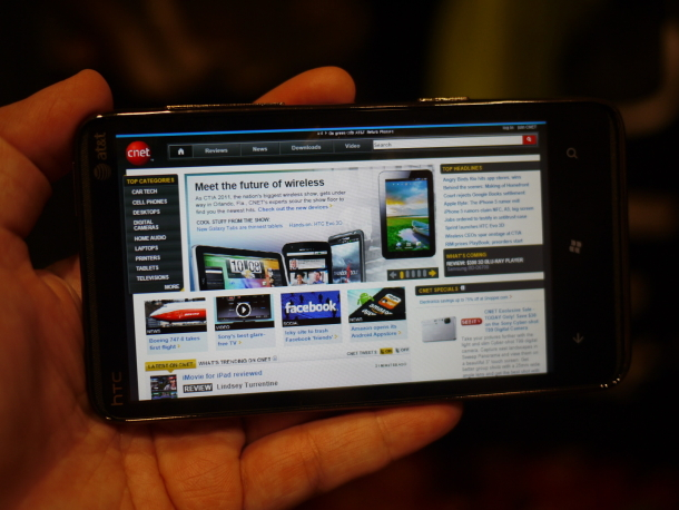 Hands on with the HTC HD7S   CTIA 2013   CNET Reviews