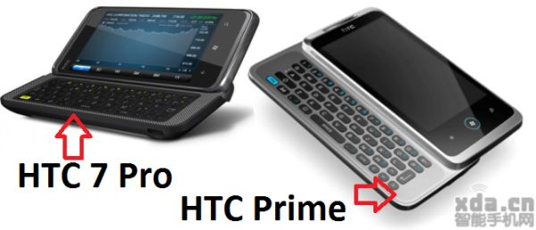 HTC Prime  Leaked Specs and Photo Show QWERTY Slider and WP7