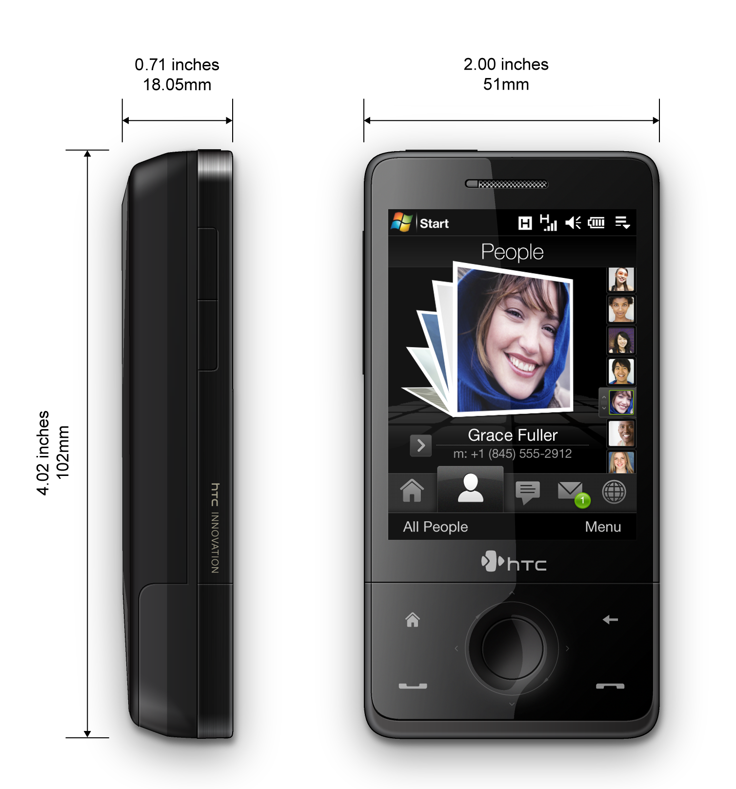 HTC Touch Pro T7272  HTC Raphael 100  Specs   Technical Datasheet