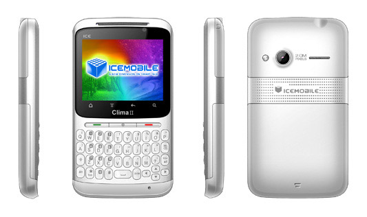 Icemobile Clima II   Specs and Price   Phonegg