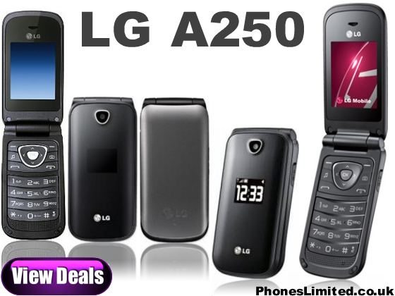 LG A250 Deals Launched   Cheap Simple Flip Phone from LG  A250