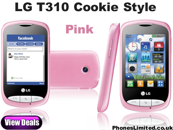 LG Cookie Style Pink Joins the LG T310 Cookie Range   Phones Limited