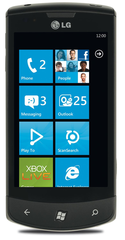 LG E900 Optimus 7 Black
