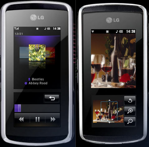 LG KF600 with InteractPad  thats what Chocolates will become