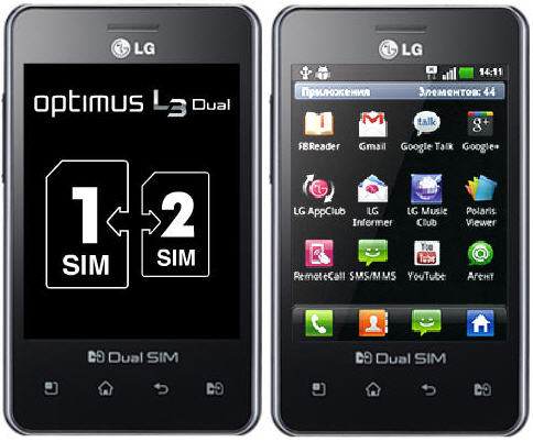 LG Optimus L3 E405 phone photo gallery  official photos