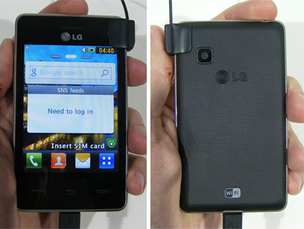 LG T375 Cookie Smart phone photo gallery  official photos
