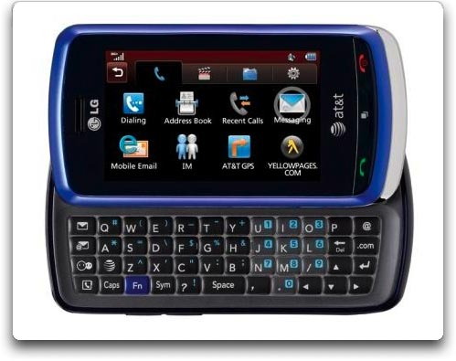 Amazon com  LG Xenon GR500 Phone  Blue  ATT   Cell Phones
