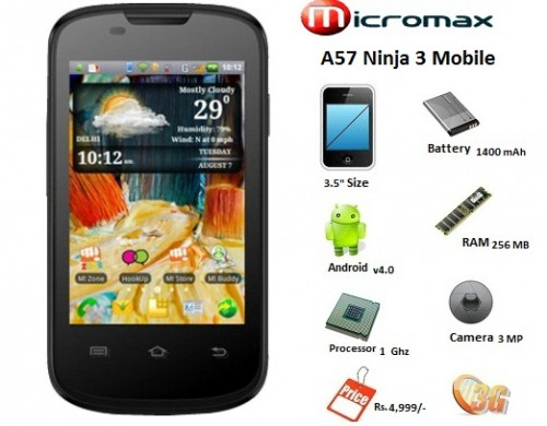 Official Stock ROM for Micromax A57 Ninja 3