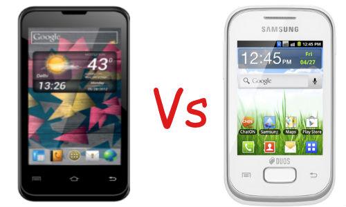 Micromax A87 Superfone Ninja 4 vs Samsung Galaxy Y Duos Lite