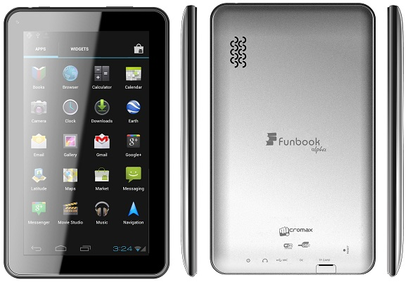 Micromax Funbook Alfa P250 phone photo gallery  official photos