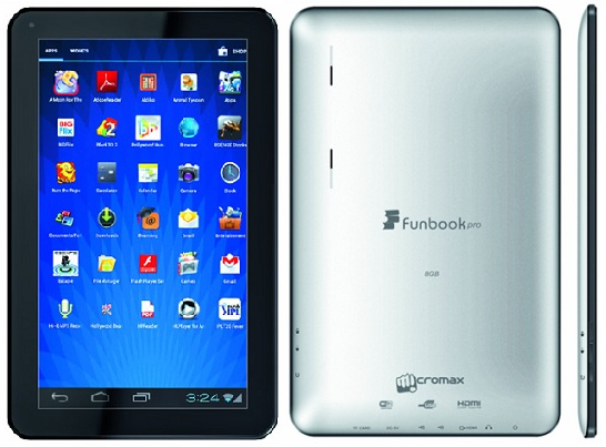 Micromax Funbook Pro Features Specifications and Price In India