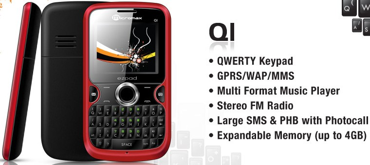 Micromax Q1 Price in India   Micromax Q1 QWERTY mobile Price