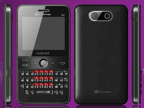 Micromax Q7 Price and Features     Dual Sim QWERTY with WiFi
