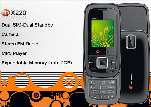 Micromax X220 Price India   Micromax X220 Dual SIM Slider mobile phone