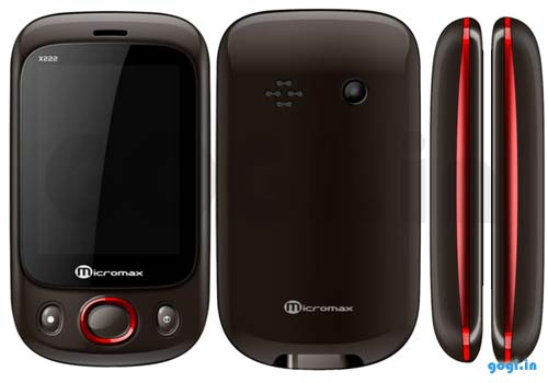 Micromax X222 the low cost touchscreen phone features and price in