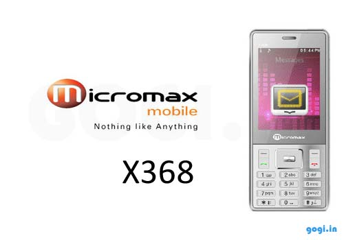 Micromax X368 dual SIM phone price and features