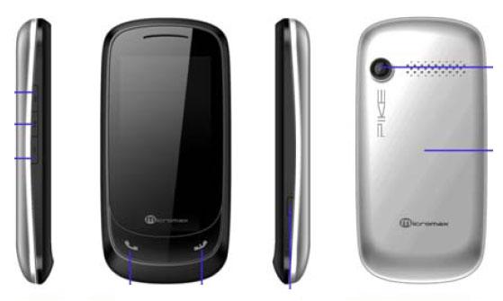 Micromax X510 Pike Touchscreen Phone