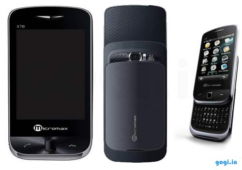 Micromax X78 Dual SIM Slider QWERTY touchscreen phone features and