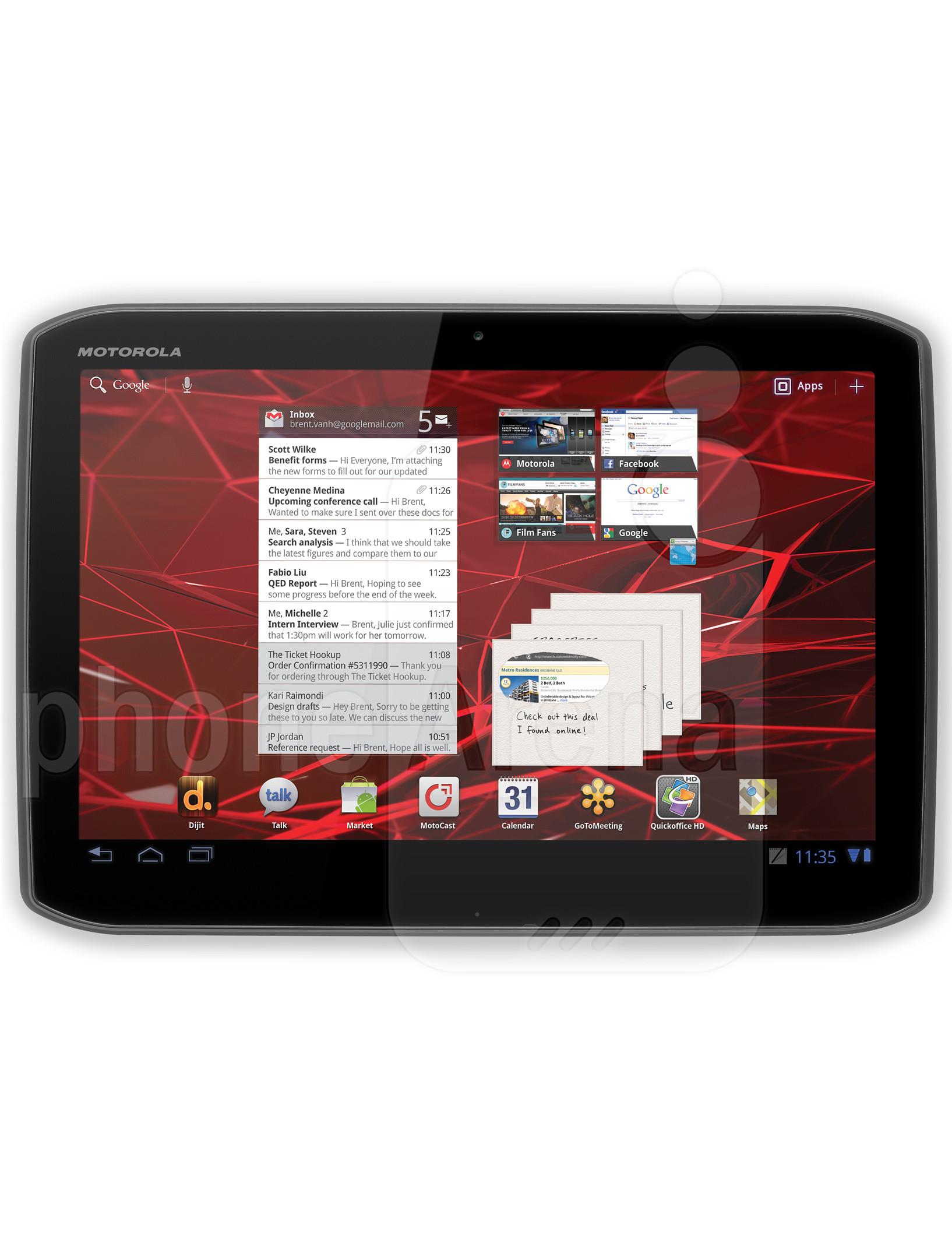 Motorola DROID XYBOARD 10 1 specs