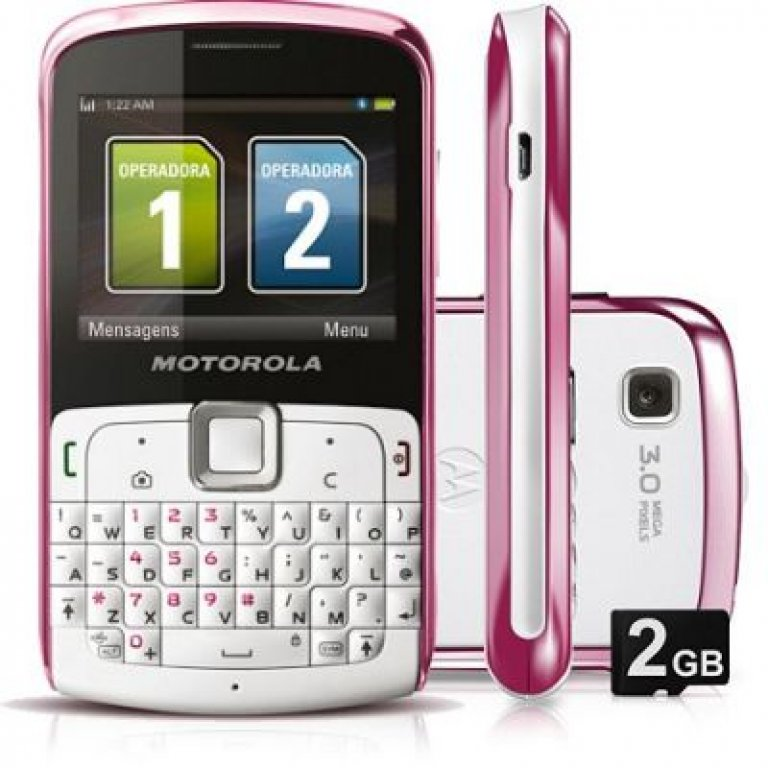 Celular Dual Chip Motorola Ex115 Rosa   Ex115 Rosa  Telefonia
