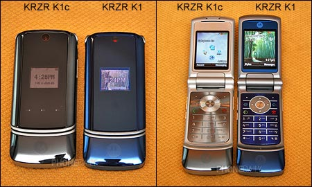 Compare Motorola KRZR K1c and Motorola KRZR K1 Cellular Phones