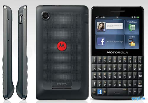 Motorola MotoKey Social the QWERTY phone with dedicated Facebook key