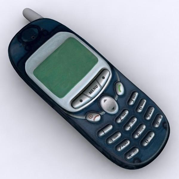 motorola t190 mobile phone 3d model