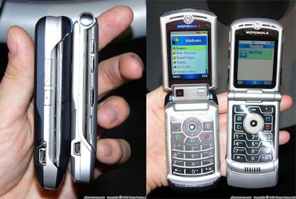 Motorola V3x vs  V3