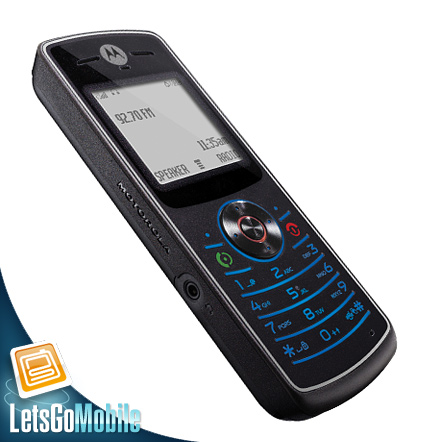 Motorola W160 with built in FM radio LetsGoMobile