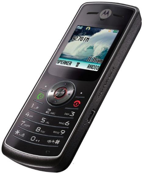 Motorola W180 phone photo gallery  official photos