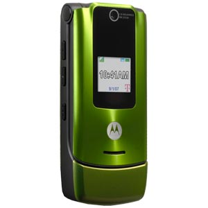 T Mobile Cell Phone   Motorola W490 Green   Wirefly
