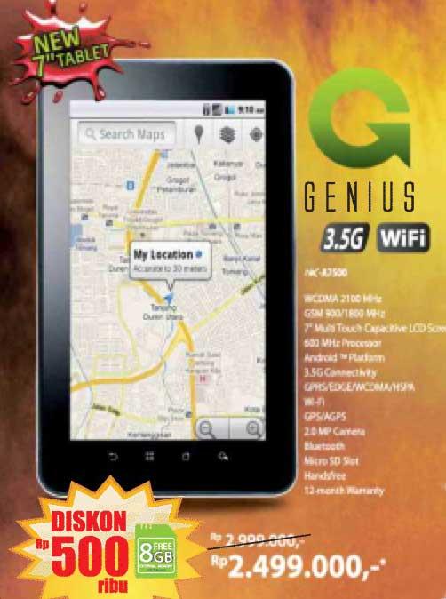 Nexian Genius NX A7500 Tablet Android Lokal 7 Inci Harga Murah