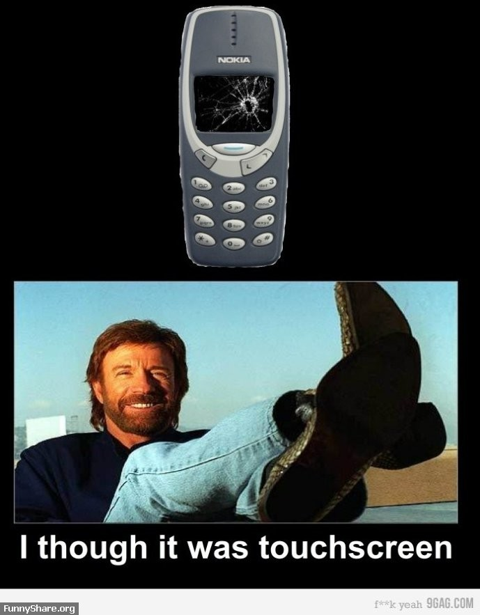 Chuck Norris vs  Nokia 3310   Funny pictures