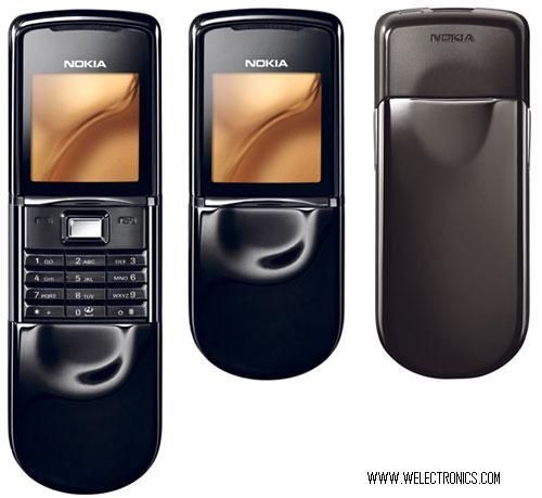 www welectronics com   Nokia 8800 BLACK SIROCCO LIMITED EDITION