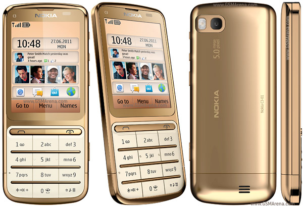 Nokia C3 01 Gold Edition pictures  official photos