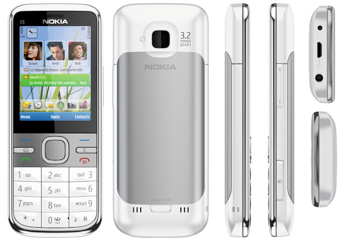 Nokia C5   classic style candy bar at    135  first Cseries