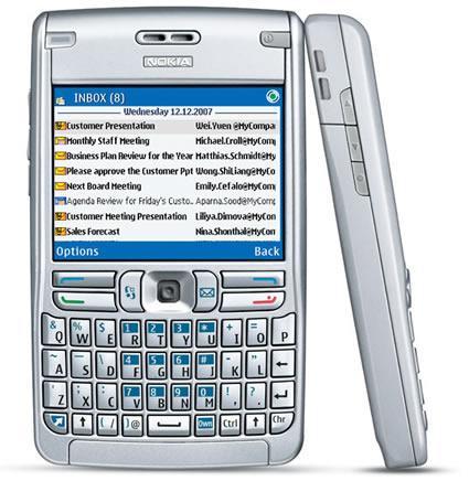 Nokia E62 phone photo gallery  official photos