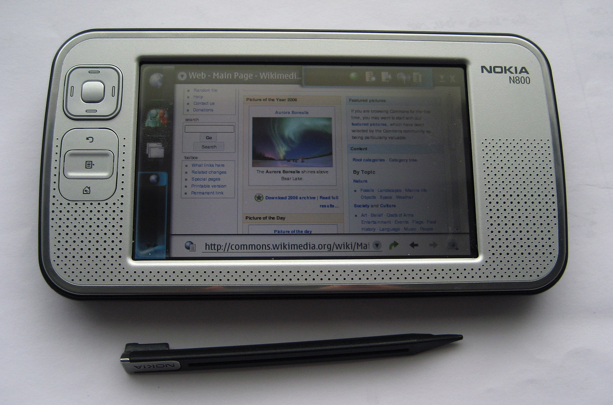 Nokia N800   Wikipedia  the free encyclopedia