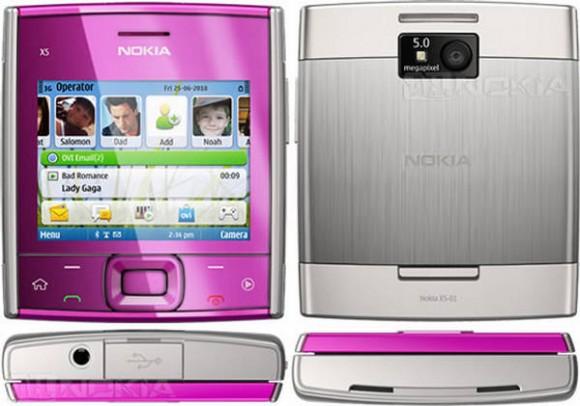 Nokia X5 01 Square Slider Mobile Phone